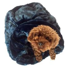 3-in-1 Cozy Dog Cuddle Sack - Navy Bella