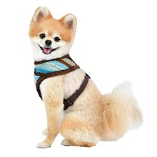 Crayon Basic Style Dog Harness By Puppia - Brown