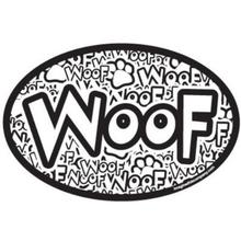 Woof (Crazy) Oval Magnet