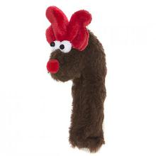 Crinkle Cane Deer Dog Toy by West Paw - Brown