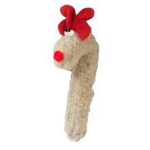 Crinkle Cane Deer Dog Toy by West Paw - Oatmeal