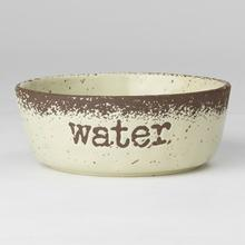 Crockery Water Stoneware Dog Bowl