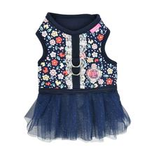 Crocus Flirt Dog Harness Dress by Pinkaholic - Navy