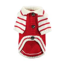 Crown Dog Cardigan by Hip Doggie - Red