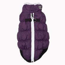 Crown Puffer Dog Vest by Hip Doggie - Purple