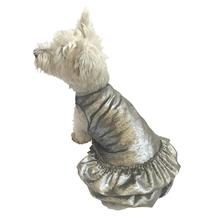 Crushin' on YOU Metallic Velvet Dog Dress - Silver