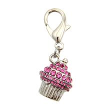 Crystal Cupcake D-Ring Pet Collar Charm by foufou Dog - Pink