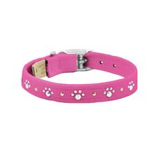 Crystal Paws Dog Collar by Susan Lanci - Pink Sapphire