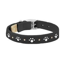 Crystal Paws Dog Collar by Susan Lanci - Black