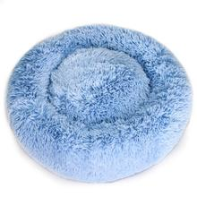 Cuddle Shag Dog Bed by Hello Doggie - Blue