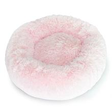 Cuddle Shag Dog Bed by Hello Doggie - Light Pink