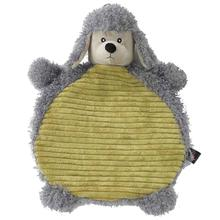 CuddleRageous Poodle Dog Toy - Gray and Lime