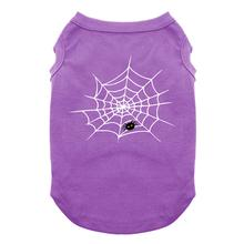 Cute Spider Halloween Dog and Cat Shirt - Purple