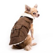 Aspen Dog Parka - Chocolate