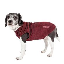 Pet Life® ACTIVE 'Aero-Pawlse' Heathered Dog Tank Top T-Shirt - Red/Maroon