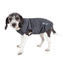 Pet Life® ACTIVE 'Aero-Pawlse' Heathered Dog Tank Top T-Shirt - Black