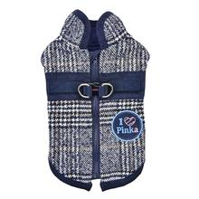 Da Vinci Winter Dog Vest By Pinkaholic - Navy