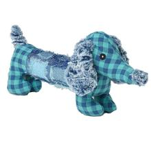 DachRageous Dog Toy - Blue Plaid