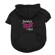 Daddy's Little Girl Dog Hoodie - Black