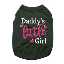 Daddy's Little Girl Dog Shirt - Black