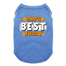 Dad's Best Buddy Dog Shirt - Blue