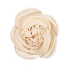 Dahlia Flower Dog Collar Attachment - Beige