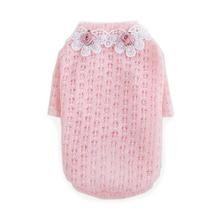 Baby Rose Dog Sweater by Hello Doggie - Pink