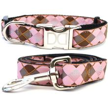 Argyle Dog Collar and Leash Set by Diva Dog
