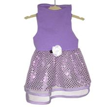 Daisy & Lucy Lilac Tulle and Sequin Dog Dress