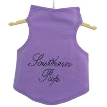 Daisy & Lucy Southern Pup Dog Tank - Lilac with Black Studs
