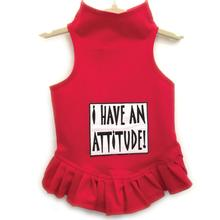 Daisy & Lucy I Have an Attitude Dog Dress - Red