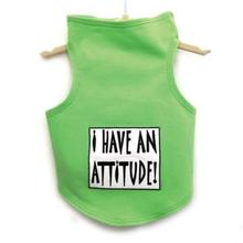 Daisy & Lucy I Have an Attitude Dog Tank - Lime