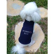 Daisy & Lucy Mommy's Boy Dog Tank - Navy