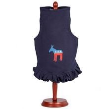 Daisy & Lucy Democrat Donkey Dog Dress - Navy