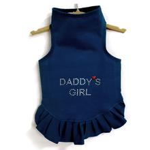 Daisy & Lucy Daddy's Girl Dog Dress - Navy