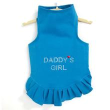 Daisy & Lucy Daddy's Girl Dog Dress - Blue