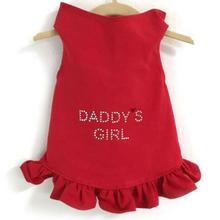 Daisy & Lucy Daddy's Girl Dog Dress - Red
