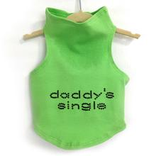 Daisy & Lucy Daddy's Single Dog Tank - Lime