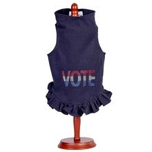 Daisy & Lucy Vote Dog Dress - Navy