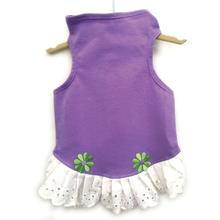 Daisy & Lucy Eyelet Flower Jersey Dog Dress - Lilac