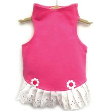 Daisy & Lucy Eyelet Flower Jersey Dog Dress - Pink