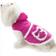 Daisy and Lucy Faux Shearling Hooded Dog Coat - Pink