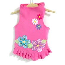 Daisy & Lucy Flower Power Dog Dress - Hot Pink