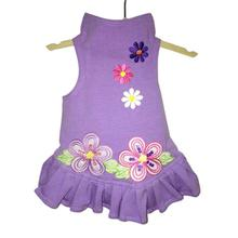 Daisy & Lucy Flower Power Dog Dress - Lilac