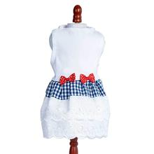 Daisy & Lucy Gingham and Eyelet Dog Dress