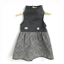 Daisy and Lucy Gray Top with Black and White Ink Print Skirt Dog Dress