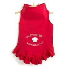 Daisy & Lucy Happy Birthday Dog Dress - Red