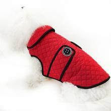 Daisy & Lucy Microfiber Quilted Dog Coat - Red