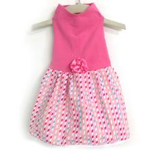 Daisy and Lucy Pink Multi-Ribbon Dog Dress