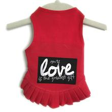 Daisy & Lucy My Love Is The Greatest Gift Dog Dress - Red